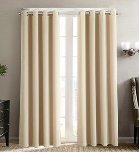 Black Out Curtain Set (36x84):  Khaki