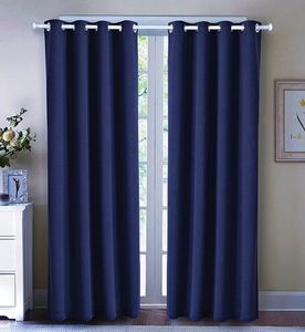 Black Out Curtain Set (36x84):  Navy