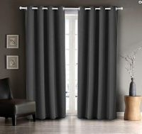 Blackout Curtain Set:  Gray