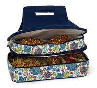 Blue Peacock Entertainer Double Level Casserole Carrier