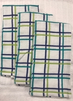 Blue & Teal Multi Check Cotton Kitchen Towels