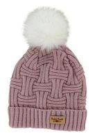 Britt's Knits Lined Woman's Hat w/Pom (Blush)