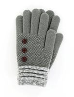 Britt's Knits Woman's Gloves (Gray)