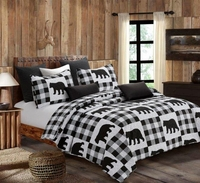 Buffalo Check Black & White Quilt Ensemble