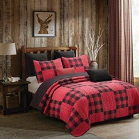 Buffalo Plaid Red & White Quilt Ensemble