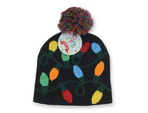 Bulbs Lighted Holiday Hat