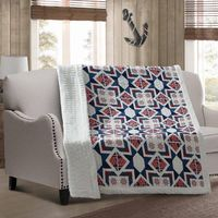 Captains Wheel Quilted Sherpa Throw