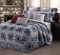 Carolina Blue King Quilt Ensemble