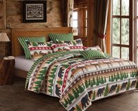 Christmas Wilderness King  Quilt Ensemble