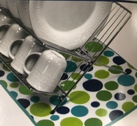 Cool Soap & Water Dish Drying Mat