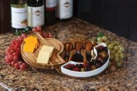 Costa Acacia Wood & Ceramic Cheese Board