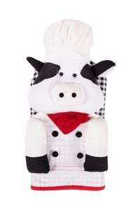 Decorative Oven Mitts Chef Cow