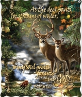 Deer Creek Scripture Quilted Throw