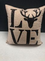 Deer Love Toss Pillow