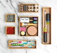 Deluxe Bamboo Drawer Organizers