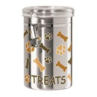 Dog Biscuit Stainless Steel Treat Jar