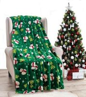 Emerald Snowman Throw Blanket