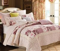 English Garden Patchwork King  Quilt Ensemble