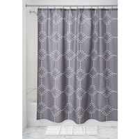 Fabric Shower Curtains Charcoal Geometric