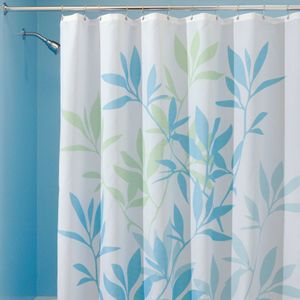 Fabric Shower Curtains Green Leaves