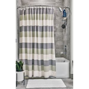Fabric Shower Curtains Multi Stripe