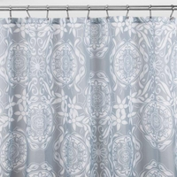 Fabric Shower Curtains Scroll Medallion