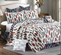 Feathers Quilt Full/Queen