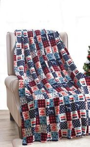 Firehouse Patchwork Throw Blanket
