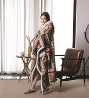 Flannel Hooded Sherpa Throw (Lake Living)