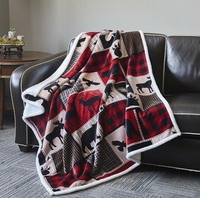 Flannel Sherpa Throw Lodge Life