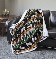 Flannel Sherpa Throws