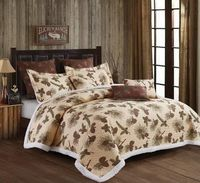Forest Pines  (3 pc) Sherpa Quilt Ensmeble