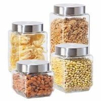 Glass Canisters Set