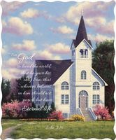 God Loved The World Quilted Throw