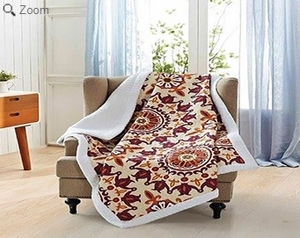 Shanti Jewel Quilted Sherpa Throw