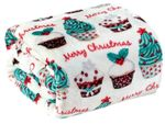 Holiday Cupcakes Throw Blanket