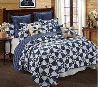 Hunters Star Navy Full/Queen Quilt Ensemble
