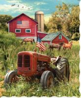 Inspirational Throw:  Patriotic Tractor