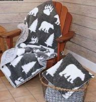 Jacquard Sherpa Blanket Bear Tree