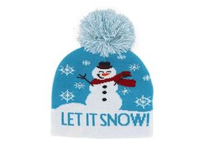 Kids Let It Snow Light Up Hat