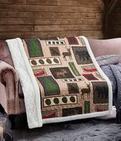 Lake Living Quilted  Sherpa Throw