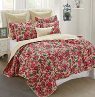 Lenyx Floral Full/Queen Quilt Ensemble