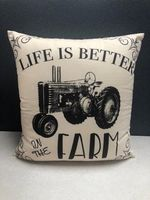 Life is Better on the Farm Toss Pillow