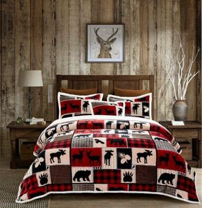 Lodge Life  Full/Queen Flannel Sherpa Bedding Collection