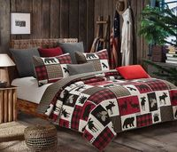 Lodge Life King Quilt Ensemble