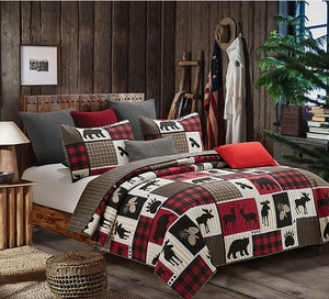 Lodge Life Quilt Ensemble
