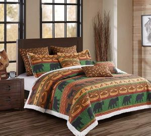 Lodge Preserve  (3 pc) Sherpa Quilt Ensmeble
