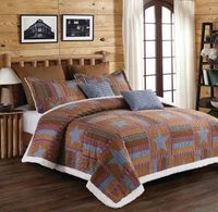 Lodge Star  (3 pc) Sherpa Quilt Ensmeble