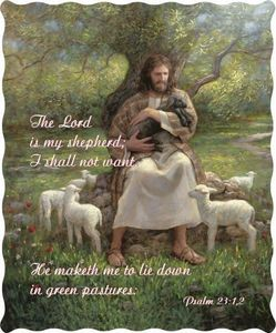 Lord Is My Shepherd Quilted Throw
