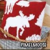 Luxury Toss Pillow Moose Forest